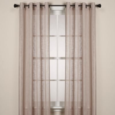 Alton Solid Grommet Window Curtain Panel - 108-Inch - Taupe