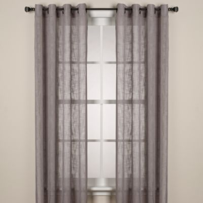 Alton Solid Grommet 63-Inch Window Curtain Panel in White