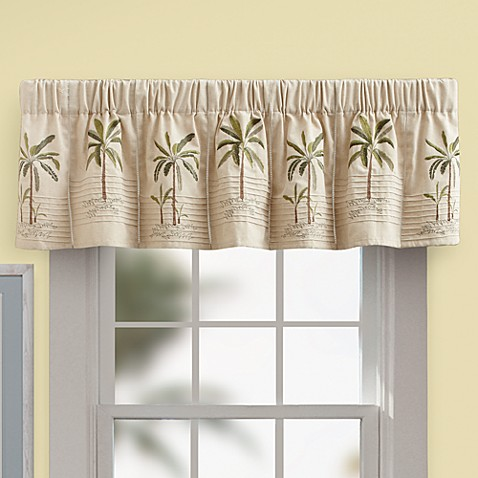 Buy Palm Tree Valance In Ivory From Bed Bath Amp Beyond