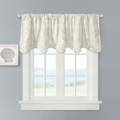 Harbor House™ Crystal Beach 100% Cotton Scallop Valance in Ivory