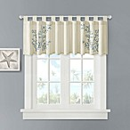 Coral 100% Cotton Tab Top Valance