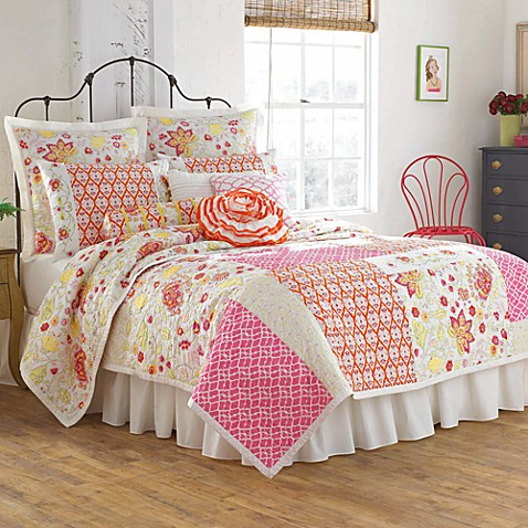 Dena™ Home Camille King Pillow Sham in Pink/Orange
