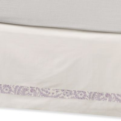 Dena Home French Bed Skirt in Lavender