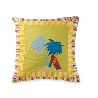 Beach Life Palm Trees Toss Pillow