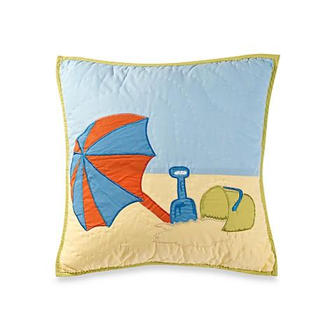 Beach Life Umbrella Throw Pillow