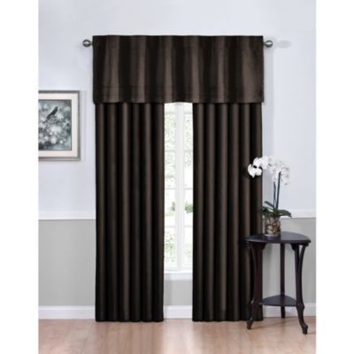 Vivianna Sound Asleep™ 63-Inch Room Darkening Back Tab Top Window Curtain Panels in Black