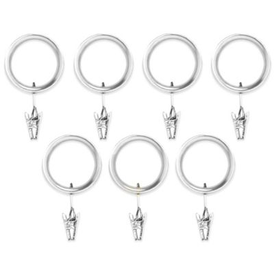 Umbra® Esquire Nickel Clip Rings (Set of 7)