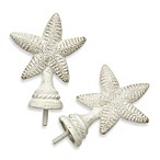 Cambria Complete White Starfish Finials – Set of 2