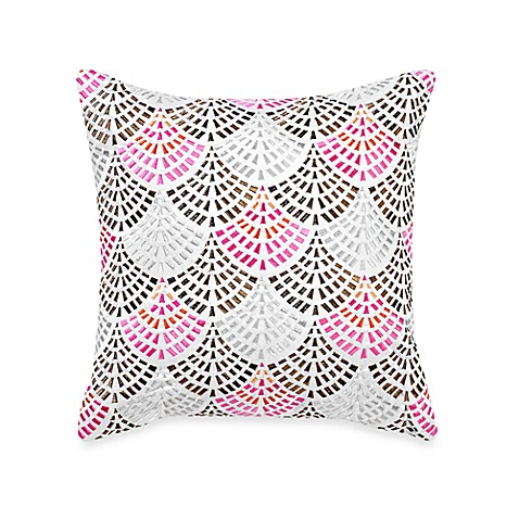 Blissliving® Malia Embroidered Square Toss Pillow