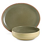 Denby Fire Sage/Yellow 3 1/4-Pint Serving Bowl