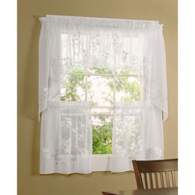 Commonwealth Home Fashions Hydrangea Kitchen Window Insert Valance