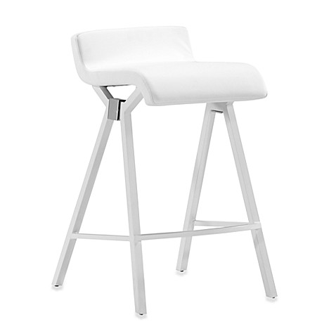 Zuo Modern Xert Counter Chair in White