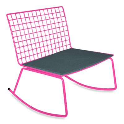 Idea Nuova Modern Rocking Chair in Black