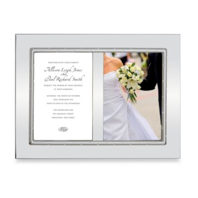 Lenox® Devotion 5-Inch x 7-Inch Double Invitation Picture Frame