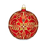 Waterford® Holiday Heirlooms Beaded Lace 5-Inch Ruby Ball Ornament