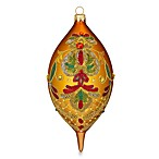 Waterford® Holiday Heirlooms Elongated Beaded Lace Amber Spire Ornament