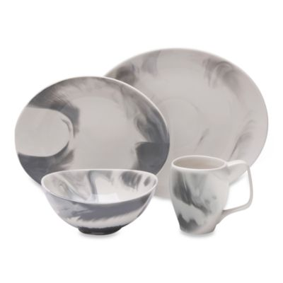 Butterfly II Marble Swirl Smoke 4-Piece Place Setting