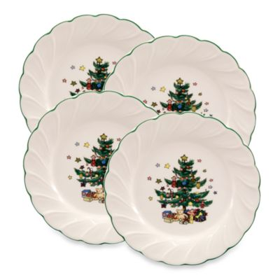 Nikko Christmastime 8 1/4-Inch Salad Plate Set of 4