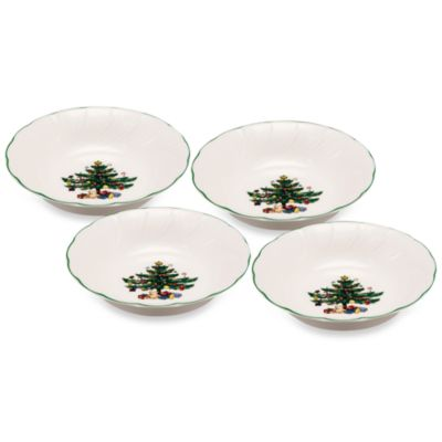 Nikko Happy Holidays 5 1/2-Inch Fruit Bowl (Set of 4)