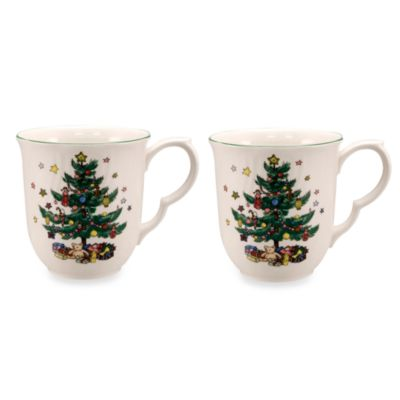 Nikko Happy Holidays 9-Ounce Mug (Set of 2)