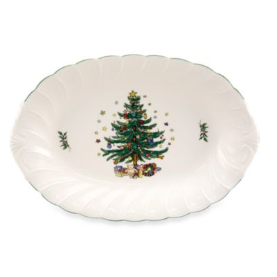 Nikko Happy Holidays 14-Inch Oval Platter