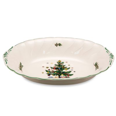 Nikko Christmastime 10 1/2-Inch Oval Vegetable Platter