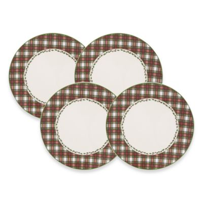 Nikko Tartan 10 3/4-Inch Dinner Plate (Set of 4)