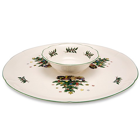 Nikko Christmas Giftware 11 1/2-Inch 2-Piece Chip Plate and 6-Ounce Dip Bowl Set