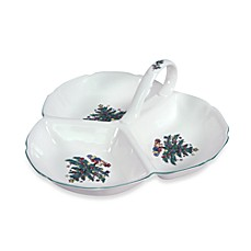 Nikko Christmas Giftware 9-Inch 3-Section Tray