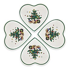 Nikko Christmastime 5 3/4-Inch Heart Dish Set of 4