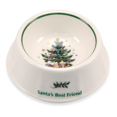 "Nikko Christmas Giftware 8-Inch ""Santa's Best Friend"" Dog Bowl"