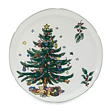 Nikko Christmas Giftware 11 1/2-Inch Hostess Plate
