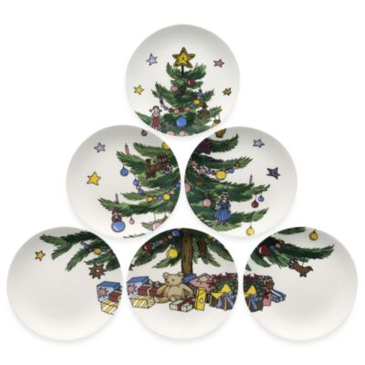Nikko Christmas Giftware 6-Inch Tapas Plate (Set of 6)