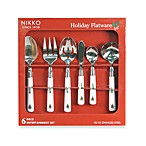 Nikko Christmas Flatware 6-Piece Set