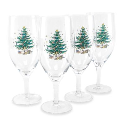 Nikko Christmas Glassware 16-Ounce 4-Piece Wine Glass Set