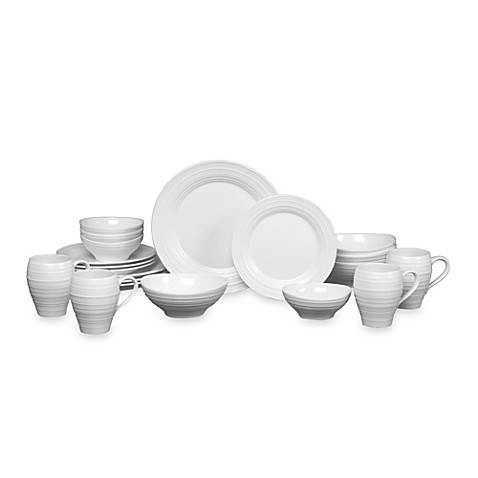 Mikasa® Swirl 20-Piece Dinnerware Set in White