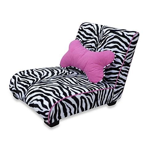 Enchanted Home Pet Zebra Elliot Chaise