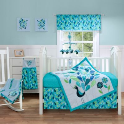 Bananafish® Peacock Blue 3-Piece Crib Set
