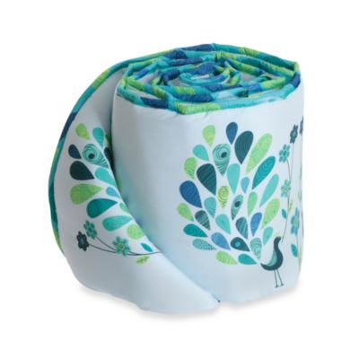 Bananafish® Peacock Blue Crib Bumper