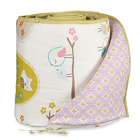 Bumpers > Lolli Living™ by Living Textiles Baby Mix & Match Crib Bumper in Lovebirds/Tigerlily Orchid