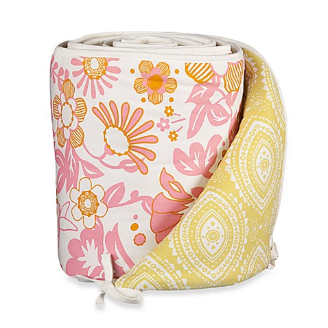 Bumpers > Lolli Living™ by Living Textiles Baby Mix & Match Crib Bumper in Whimsy Pink/Damask