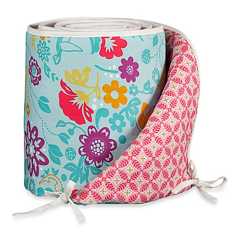 Lolli Living™ by Living Textiles Baby Mix & Match Crib Bumper in Whimsy Multi/Tigerlily Fuchsia
