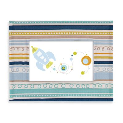 Lolli Living™ by Living Textiles Baby Fabric Covered Picture Frame in Galaxy Stripe