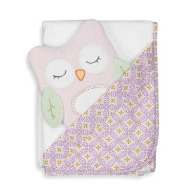 Lolli Living™ by Living Textiles Baby Hooded Towel & Bath Mitten Set in Olivia Owl