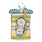 Lolli Living™ by Living Textiles Baby Cotton Knitted Blanket & Rattle Toy in Phin Penguin