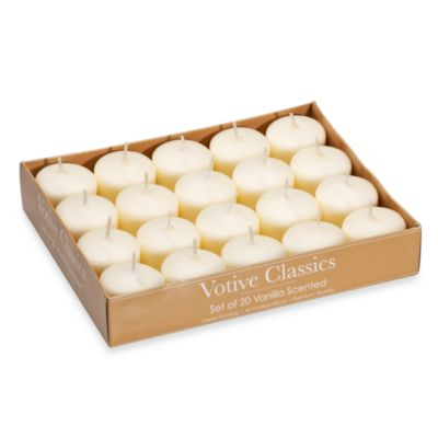 Votive Classics 20-Count Unscented Votives in Ivory