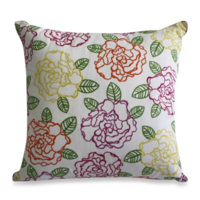 Nostalgia Home™ Floral Embroidery Square Toss Pillow