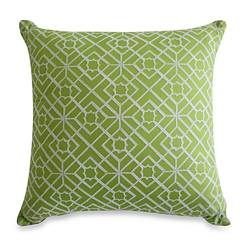 Nostalgia Home™ Satin Stich Embroidered Square Toss Pillow