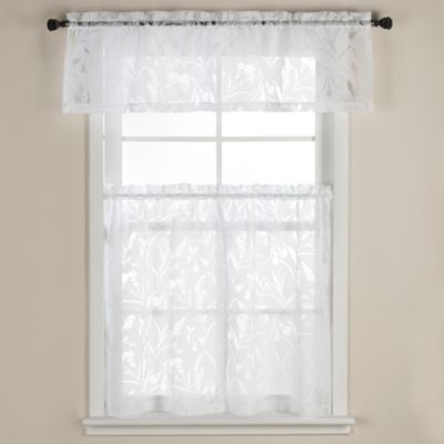 Carina Burnout 36-Inch Window Curtain Tier Pairs