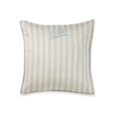 Tommy Bahama® Surfside Stripe Logo Square Throw Pillow